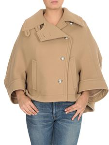 Chloé - Soft wool cape jacket in beige