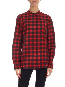 Aspesi - Check cotton shirt in red