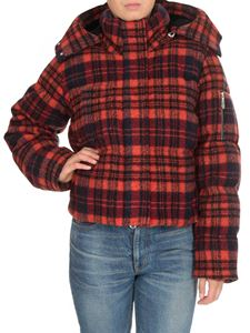Chloé - Hooded down jacket in tartan