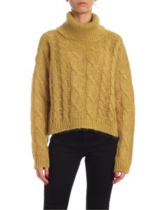 Twin-Set - Turtleneck pullover in ocher color