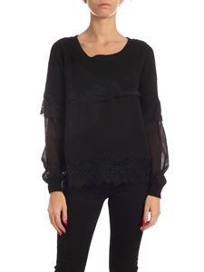 Twin-Set - Lace sweater in black