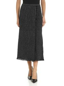 Diane von Fürstenberg - Brooklyn lamè skirt in black