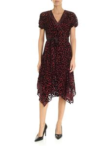 Diane von Fürstenberg - Katherine animal printed dress in wine color