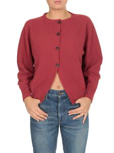 Peserico - 4 buttons cardigan in red
