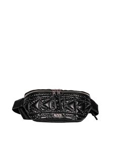 Karl Lagerfeld - K Kuilted belt bag in black with studs