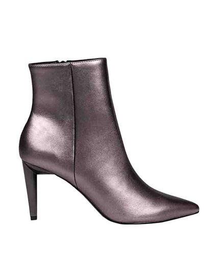 Kendall + Kylie - Zoe booties in Pewter color
