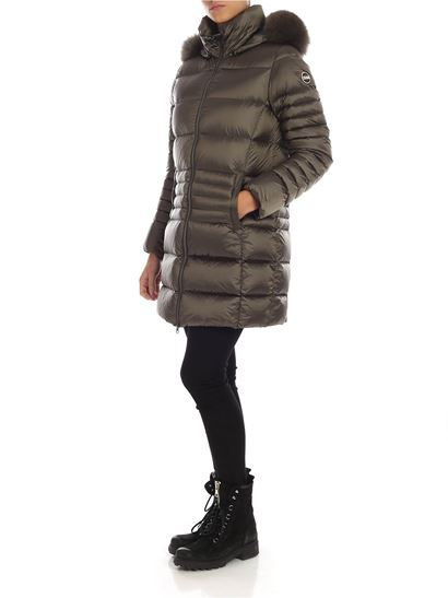 Colmar - Place long down jacket in mud color