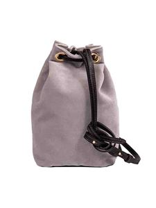 L'Autre Chose - Mini bag in grey velvet