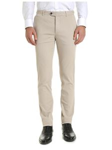 Fay - Side slash pockets trousers in beige