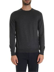 Fay - Virgin wool pullover in melange dark grey
