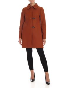 Fay - 3 Ganci Fay coat in leather color