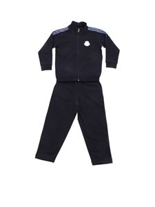 Moncler Jr - Branded bands tracksuit in blue