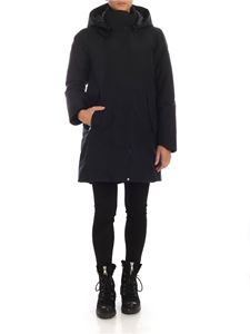 Save the duck - Hoodie long down jacket in black