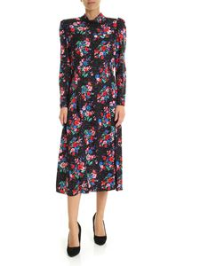 Marc Jacobs  - Floral printed long dress in black