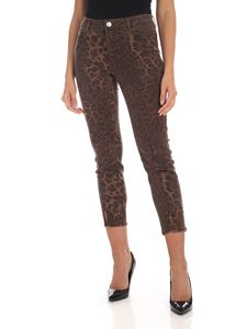 MY TWIN Twinset - Animal print jeans in brown