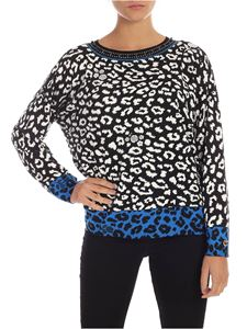 MY TWIN Twinset - Jewel neckline pullover in black