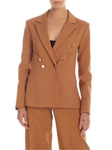 MY TWIN Twinset - Camel-colored jacket with metal buttons