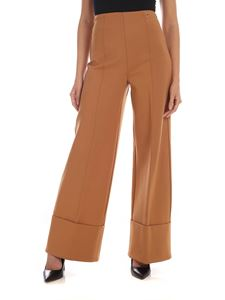 MY TWIN Twinset - Palazzo pants in camel color