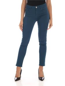 MY TWIN Twinset - 5-pocket jeans in turquoise