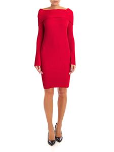 MY TWIN Twinset - Ribbed knitting dress in red