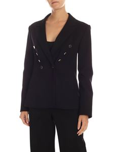 MY TWIN Twinset - Black jacket with metal buttons