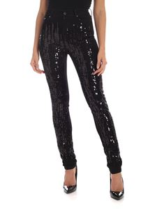 Karl Lagerfeld - Sequined  jeans in black