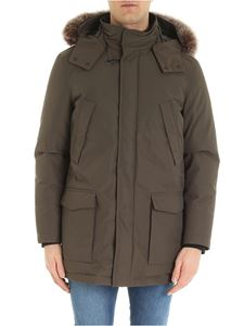 Fay - Padded parka with fur in mud color