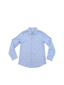 Gucci - Bees embroidery shirt in light blue