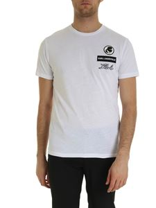 Karl Lagerfeld - Logo patch T-shirt in white