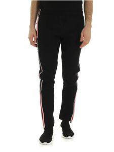 Moncler Grenoble - Logo bands trousers in black