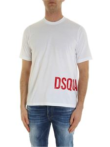 Dsquared2 - T-shirt bianca con stampa Dsquared2