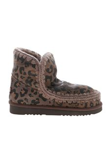 Mou - Eskimo 18 boots in beige animal print