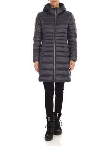 Save the duck - Down jacket in anthracite grey with rubberised logo