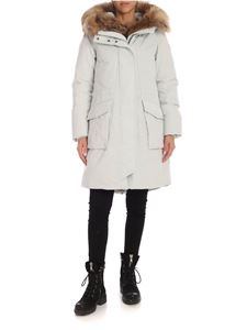 Woolrich - Military parka coat in Ice grey color