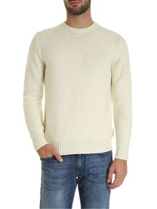Fedeli - Crew-neck pullover in ivory color