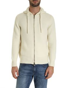 Fedeli - Zip cardigan in ivory color