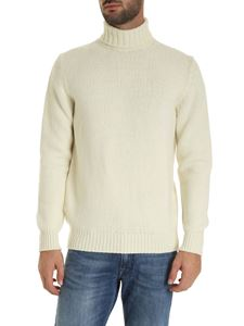 Fedeli - Turtleneck pullover in ivory color