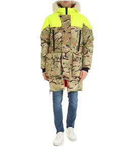 Griffin Studio - Sleeping down jacket in camouflage beige