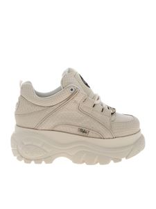 Buffalo London - Classic Snake sneakers in ivory color