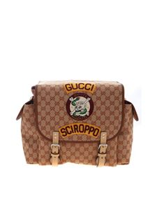 Gucci - Zaino marrone con patch Sciroppo