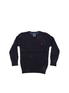 POLO Ralph Lauren - Cable knitting pullover in blue
