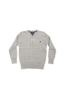 POLO Ralph Lauren - Cable knitting pullover in grey