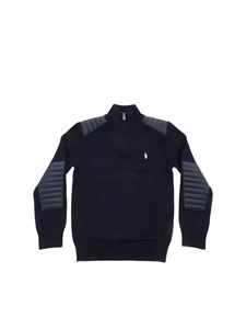POLO Ralph Lauren - Quilted effect detail pullover in blue