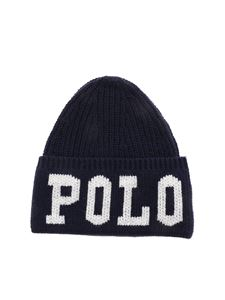 POLO Ralph Lauren - Polo logo beanie in blue
