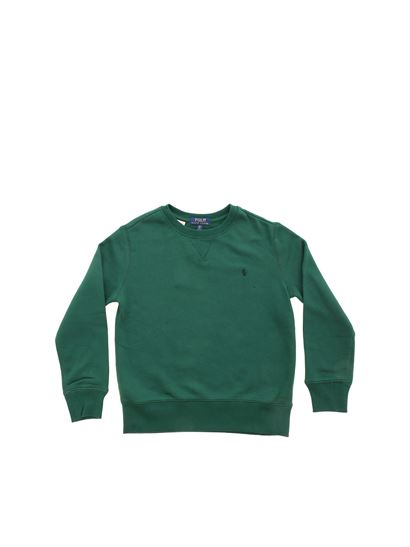 POLO Ralph Lauren - Blue logo sweatshirt in green
