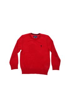 POLO Ralph Lauren - Logo patch pullover in red