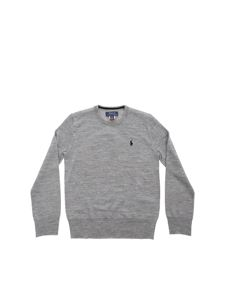 POLO Ralph Lauren - Blue logo pullover in grey