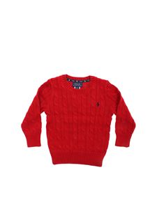 POLO Ralph Lauren - Cable knitting pullover in red