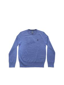 POLO Ralph Lauren - Blue logo pullover in Air Force blue color