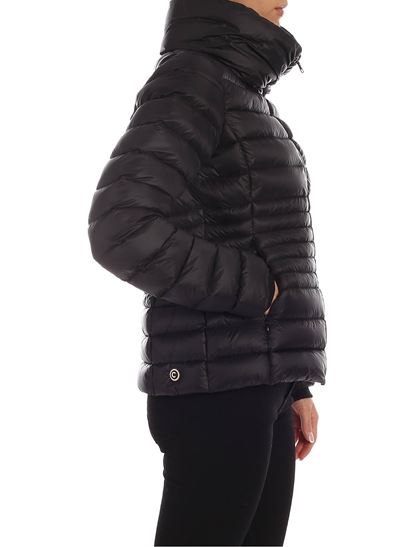 Place down jacket in black